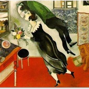 """""""El cumpleaños"""", Marc Chagall"""