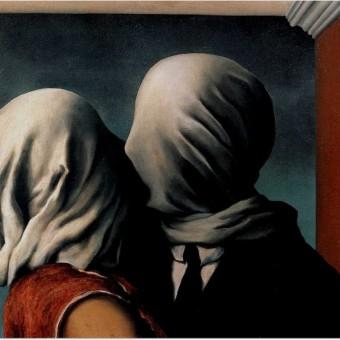 """Los amantes"", Rene Magritte"