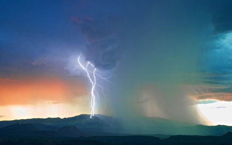 Storm Sky Clouds Lightning Nature Thunderstorm Rain Hd Desktop Wallpapers